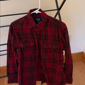 Men's Faded Glory Red Flannel Shirt